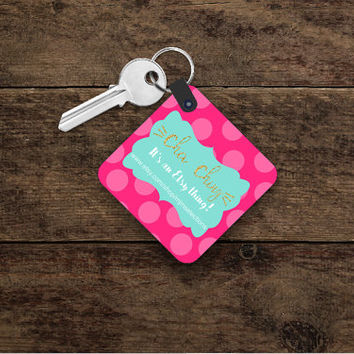 Custom Personalized Business Keychain ~ Add Your Business Information to a Keyring ~ Etsian Gifts ~ Snap Business Card ~ Proud Etsy Seller