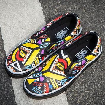 VANS Slip-On Ethnic Print Old Skool Flats Sneakers Sport Shoes