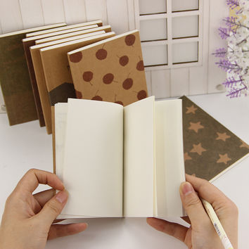 1 pcs Hot Sale Old Painting Lovely Cute Notebook Student Pocket Book School Office Supplies