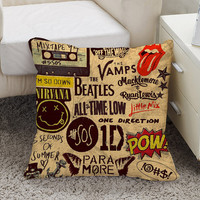 5 seconds of summer one direction pow brotherhood Square Pillow Case Custom Zippered Pillow Case one side and two side