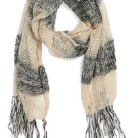 BP. Open Knit Stripe Scarf (Juniors) | Nordstrom