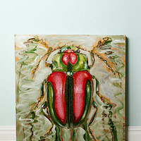 Beetle On A Ripple By Ashley Longshore