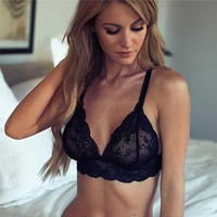 Cute On Sale Hot Deal Sexy Black Lace Bra Exotic Lingerie [9770893827]