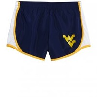 West Virginia Mountaineers Running Short | Girls West Virginia College Fan Shop | Shop Justice