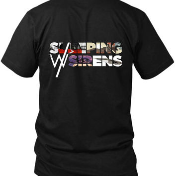Sleeping With Sirens Image 2 Sided Black Mens T Shirt