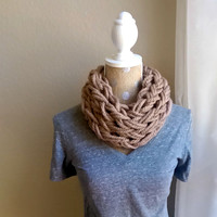Super Chunky Arm Knit Cowl, Arm Knit Infinity Scarf, Soft Arm Knit Cowl, Arm Knit Chunky Cowl, Super Chunky Knit Scarf, Single Wrap Cowl