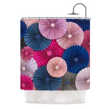 "Heidi Jennings ""Navy Pink"" Magenta Blue Shower Curtain"