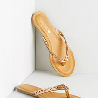 ModCloth All That Sand More Sandal in Gold