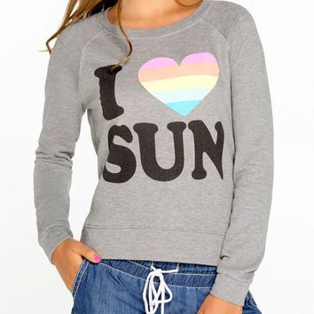 Grey I Love Sun Sweatshirt Women Workout Yoga Fitness Running Top Girls Cool Sweater Streetwear Clothing Fashion