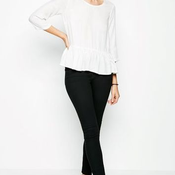 FALCONWOOD PEPLUM TOP