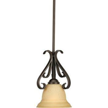 Progress Lighting, Torino Collection 1-Light Forged Bronze Mini Pendant, P5153-77 at The Home Depot - Tablet
