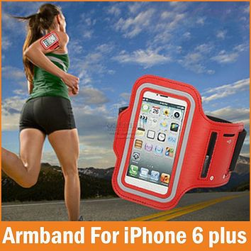 Sports GYM Running fundas Coque for Apple iPhone 6 6S Plus Case Waterproof Jogging Arm Band Phone Cases For iPhone 7 7Plus Cover