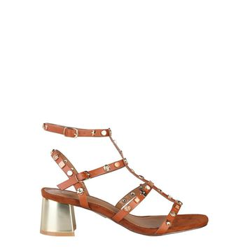 Ana Lublin Brown Ankle Strap Eco Leather Sandals