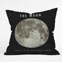 Terry Fan The Moon Throw Pillow