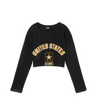 Army Campus Cropped Crew - PINK - Victoria's Secret