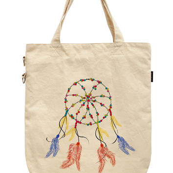 Women Dream Catcher Printed Canvas Tote Shoulder Bags WAS_39