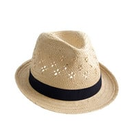 crewcuts Girls Straw Eyelet Hat