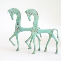 Mid Century FREDERICK WEINBERG Etruscan Horse by twostringjane