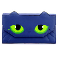 Blue Chic Cat PU Clutch Bag