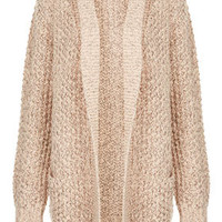 Knitted Shawl Collar Cardi - Knitwear  - Clothing