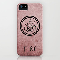 Avatar Last Airbender Elements - Fire iPhone Case by briandublin | Society6