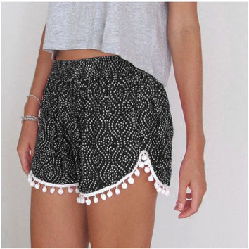 2016 New Fashion Women Lady's Sexy Summer Swimwear Casual Shorts High Waist Short For Women
