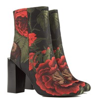 Jeffrey Campbell Stratford Bootie in Floral Brocade