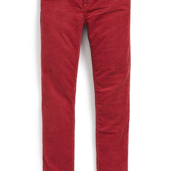 Girl's Burberry Skinny Corduroy Pants,