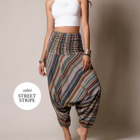 Indian Striped Harem Yoga Pants