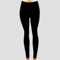 Plain Black Stretch Leggings
