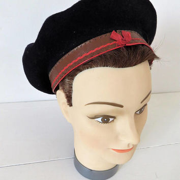 Vintage French Basque Beret, Pure Wool, Pedrito, SHIPPING INCLUDED