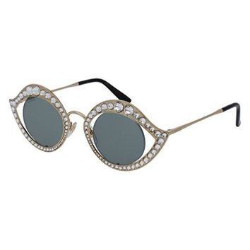 Gucci Sunglasses GG 0046 S- 001 GOLD / GREEN