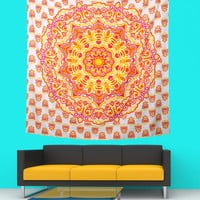Queen Mandala Tapestry Indian Wall Hanging Bohemian-Hippie Bedspread Throw Decor