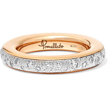 Pomellato - 18-karat rose gold diamond ring