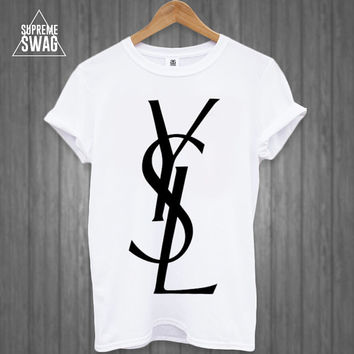 Mens supreme swag hipster fashion t-shirt celine YSL Homies Obey rihanna Cross OFWGKTA tumblr