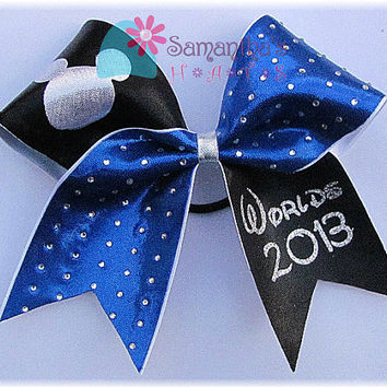Worlds inspired Cheer bow 2013