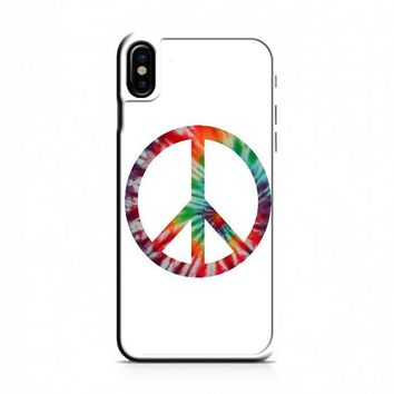 Tie Dye Peace Sign iPhone X Case