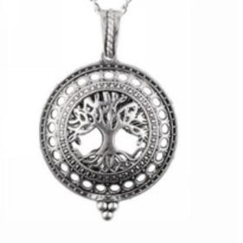Antique Tree of Life Diffuser Necklace