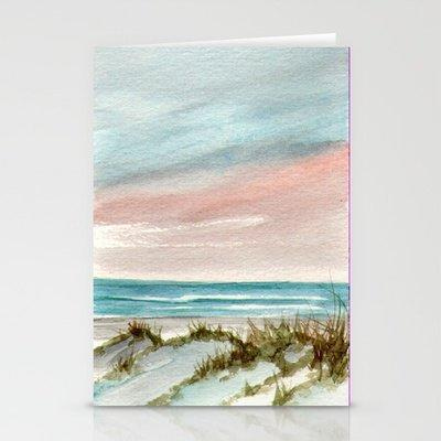 Soothing Sunset Seascape Stationery Cards by Rosie Brown   Society6