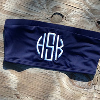 Monogrammed Bandeau Swim Top by craftsbygigi on Etsy