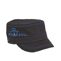 Women's Hats and CapsTin Haul Black Distressed Logo Cap With Blue