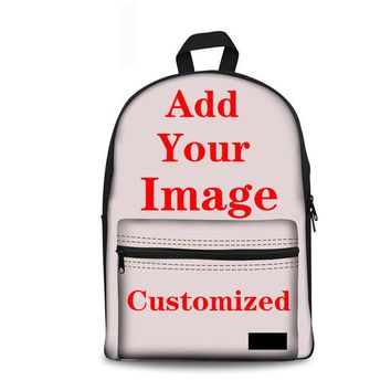 Boys bookbag trendy Noisydesigns School Bag Girl Boy Backpack Rottweiler Dog Portrait Women Canvas Schoolbag High  Mochila Escolar Infantil AT_51_3