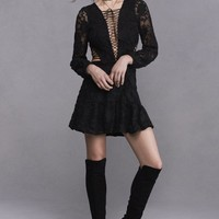 JOLENE LACE-UP DRESS