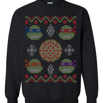 Tenage Mutan Ninja Turtle TMNT Ugly Christmas Sweater sweatshirt unisex adults size S-2XL