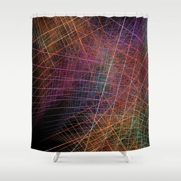 Life color fractal art Shower Curtain by jbjart