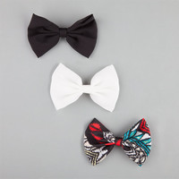 Full Tilt 3 Piece Bow Hair Clips Multi One Size For Women 25809595701