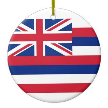 Ornament with flag of Hawaii