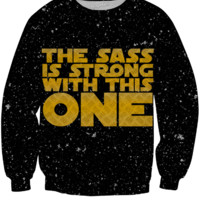 Star Wars - The Sass Is Strong With This One (Gold) Sweatshirt