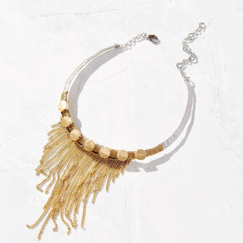 Behind The Line Fringe Choker Necklace - Urban Outfitters