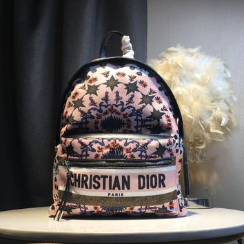 Kuyou Gb59819 Dior Backpack In Pink Flowers Print 30x 15x42cm